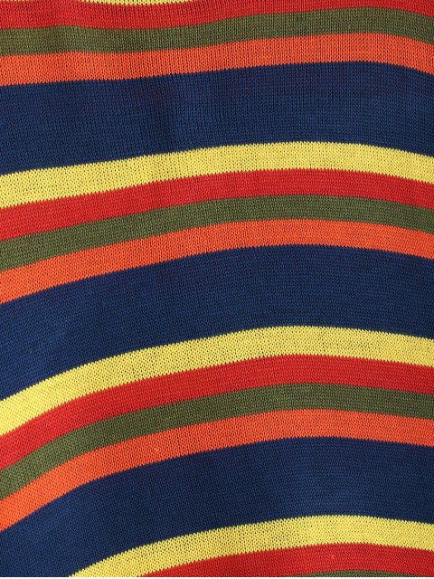 women's Stripes Crew Neck Sweater - MULTI ONE SIZE Mobile
