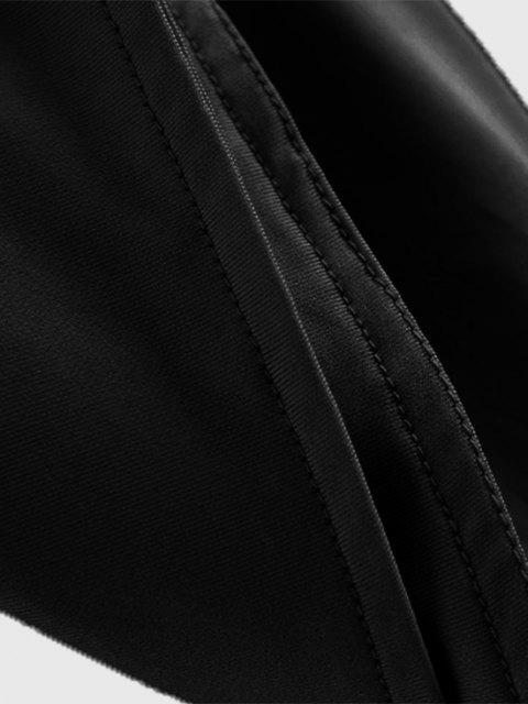Haut Court à Bretelle Fine - Noir M Mobile