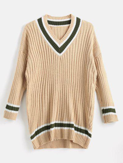 Loose Fit Cricket Sweater - Tan