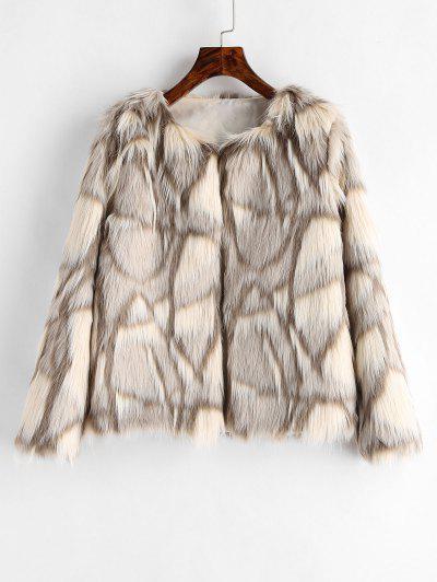Faux Fur Fluffy Coat - Multi S