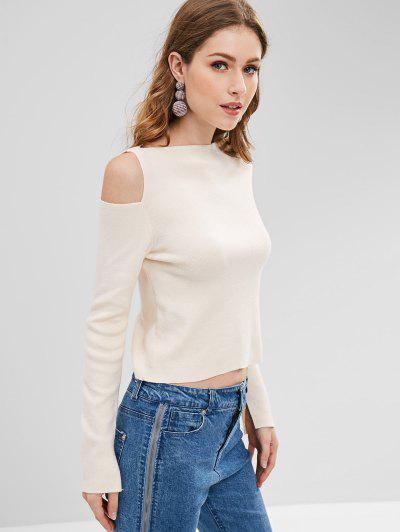 ZAFUL Cutout Cold Shoulder Sweater