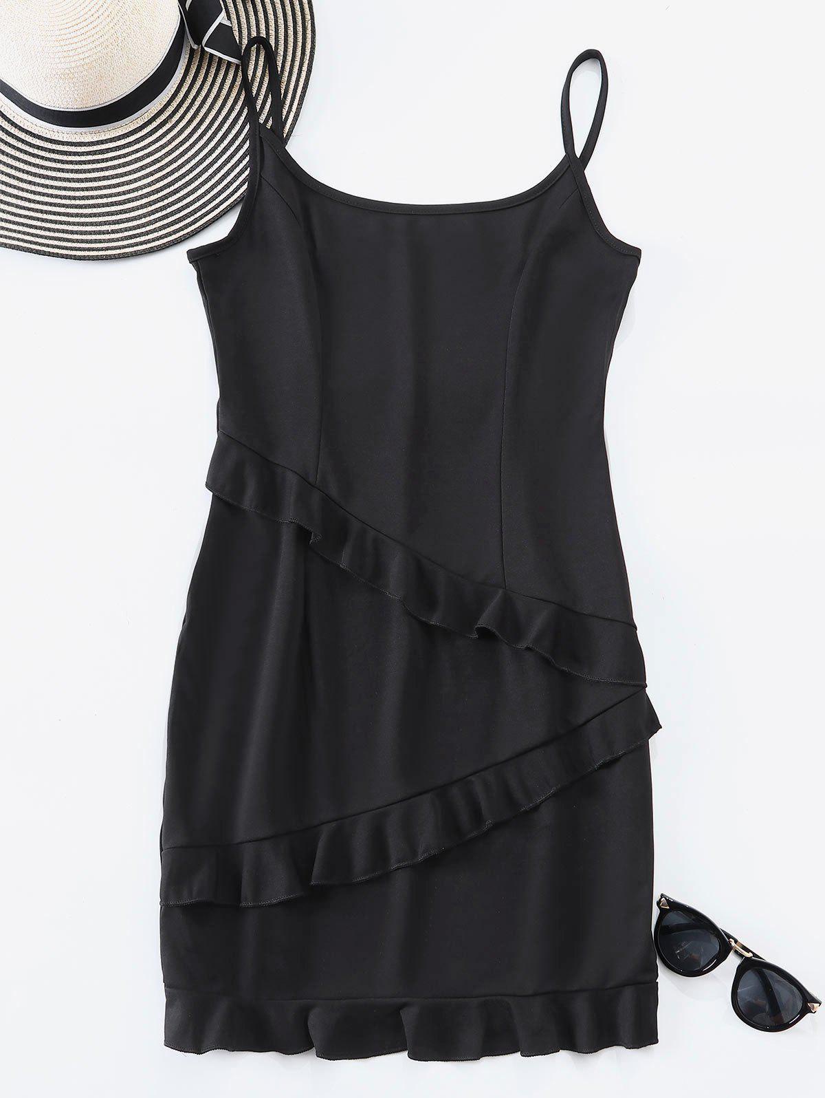 Ruffle Trim Cami Mini Dress