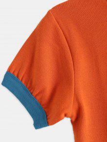 a7d923c6ec76a0 ... Contrast Trim Cropped Ringer Tee. hot Contrast Trim Cropped Ringer Tee  - BRIGHT ORANGE M