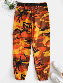 بنطال بطبعات جيب كامو - البرتقالي S