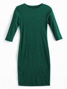 فستان بقصة ضيقة (بديكون) - متوسطة البحر الخضراء L