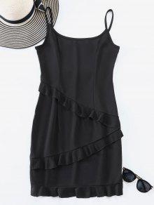 كشكش تريم كامي البسيطة اللباس - أسود L