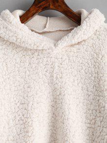 82381339d95c 41% OFF] [HOT] 2019 Loose Fit Faux Fur Hoodie In BEIGE | ZAFUL