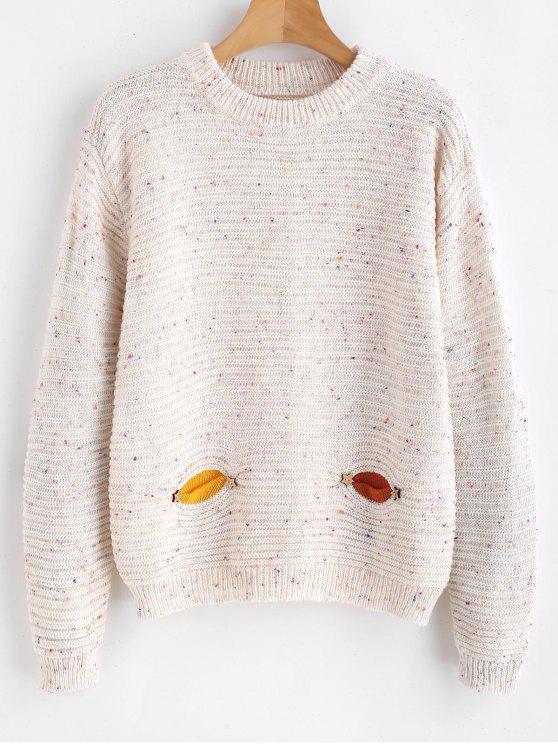 Maglione Maculato Con Tasche - Multi Colori Taglia unica
