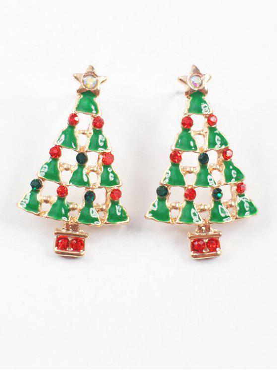 sale Christmas Tree Stud Earrings - MULTI