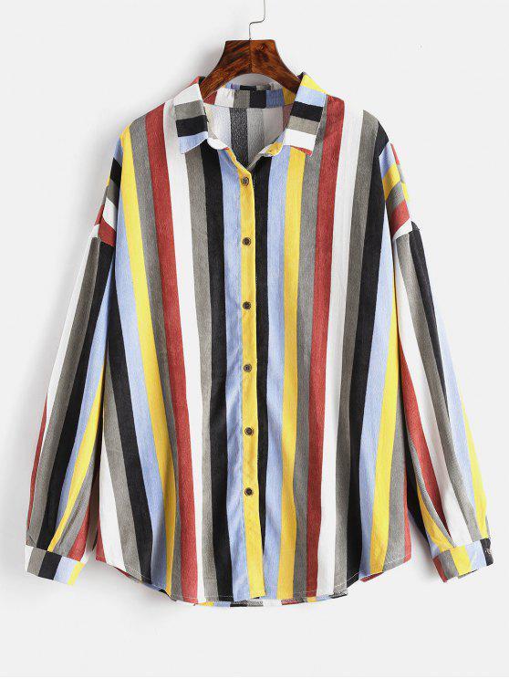 Chemise à rayures colorées - Multi Taille Unique