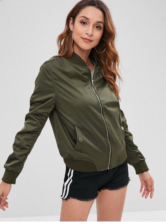 online Zipper Pocket Jacket - FERN GREEN S