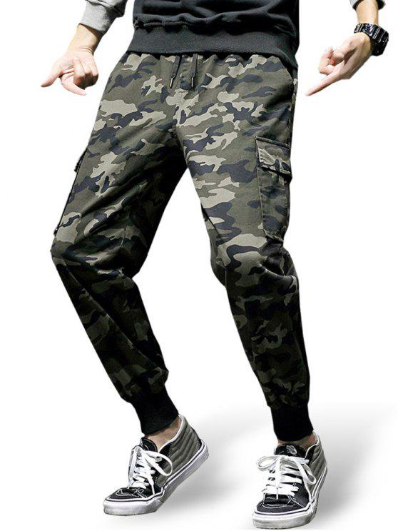 e8a9bc0b3bf269 26% OFF] 2019 Drawstring Waist Pockets Jogger Pants In CAMOUFLAGE ...