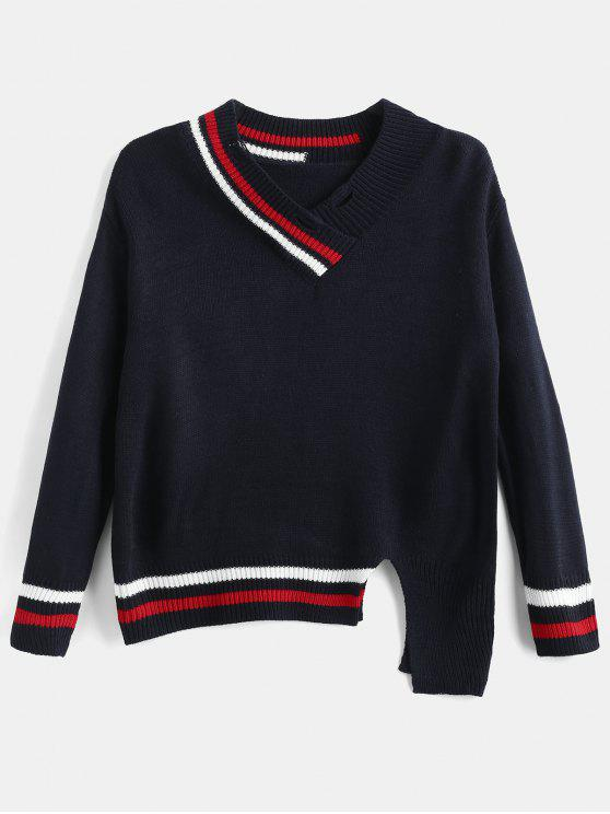 lady Slit Cricket Sweater - MULTI-A ONE SIZE