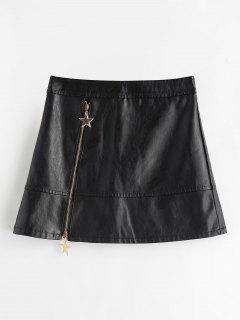 PU A Line Skirt - Black L
