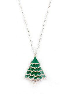 Stilvolle Weihnachtsbaum Pullover Kette - Silber