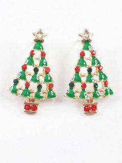 Christmas Tree Stud Earrings - Multi