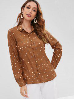 Polka Dot Shirt - Tiger Orange L