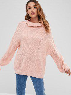Turtleneck Chunky Sweater - Pink