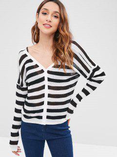 Thin Striped Cardigan - Multi