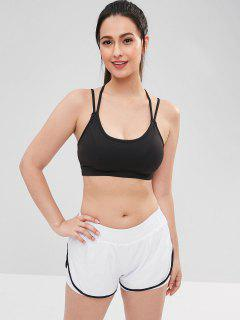 Padded Strappy Sports Bra - Black M