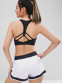 Padded Y Line Sports Bra - Black M