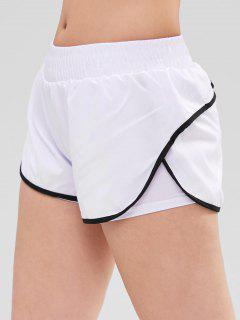 Contrast Trim Transcend Now Sports Shorts - White L