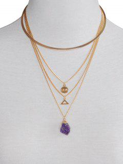 Collier Tour De Cou Multilayers Triangle - Or