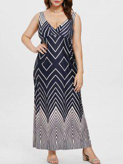 Plus Size Zig Zag Surplice Maxi Dress - Multi 2x