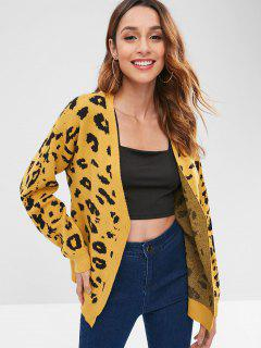 ZAFUL Graphic Button Up Cardigan - Golden Brown
