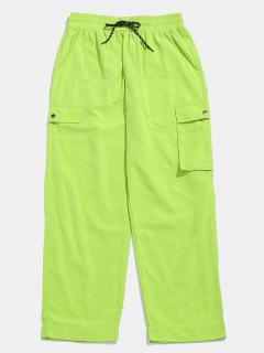 Pantalones De Velcro De Bolsillo Lateral Con Letras - Monasterio M