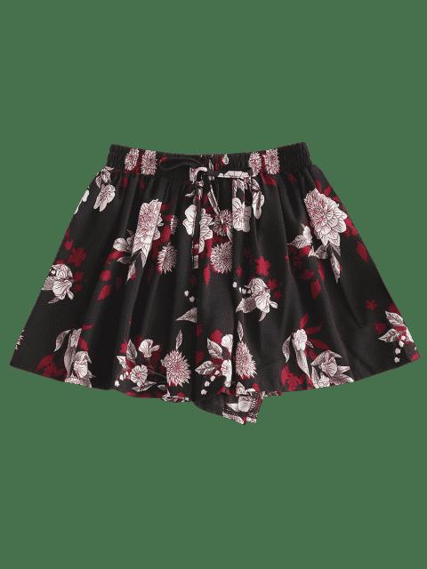 Short Fleur Imprimé - Noir XL Mobile