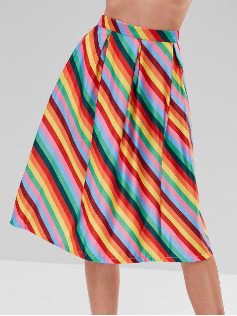 Falda a rayas arcoiris línea - Multicolor M Mobile