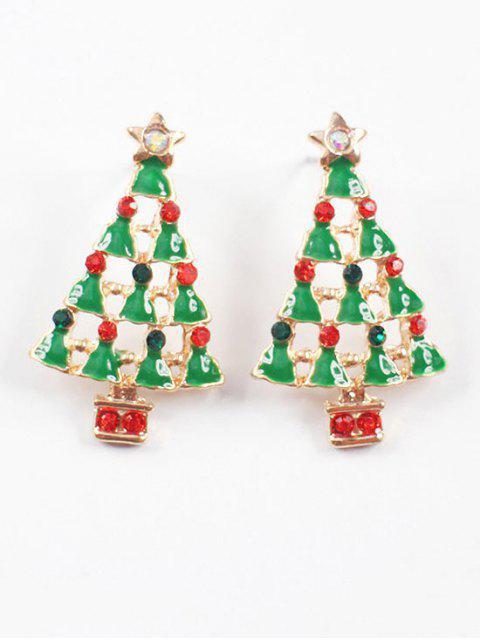 sale Christmas Tree Stud Earrings - MULTI  Mobile