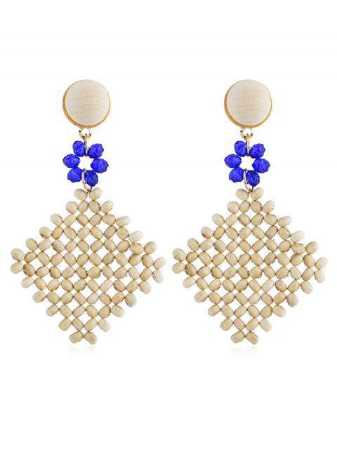 Bohemian Rhombus Floral Ohrringe - Blau  Mobile