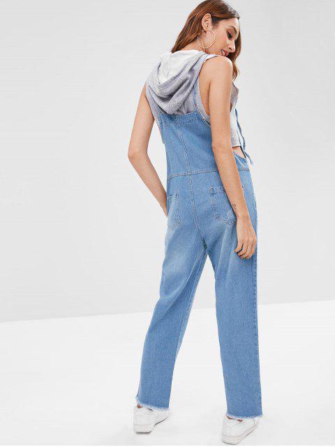 Peto de mezclilla deshilachado - Azul Denim M Mobile
