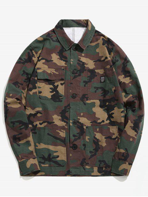 Veste Chemise Camouflage Boutonnée avec Poches - ACU Camouflage L Mobile