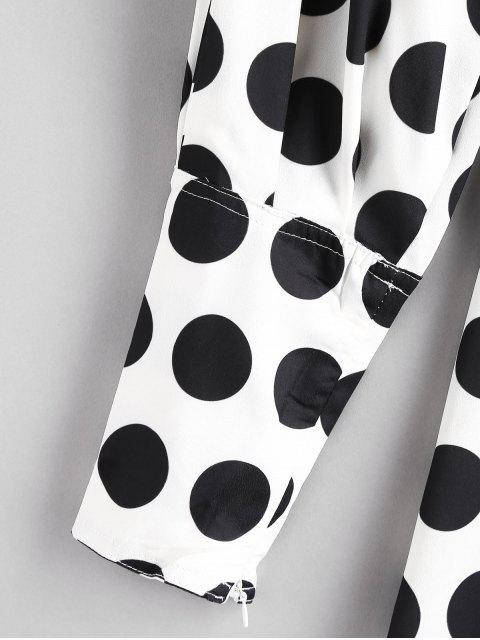 sale Polka Dot A Line Wrap Blouse - MULTI M Mobile