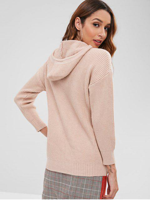 women's Drawstring Sweater Hoodie - CAMEL BROWN ONE SIZE Mobile