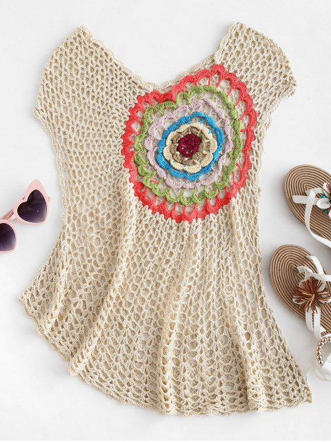 best Crochet Tank Cover Up - APRICOT ONE SIZE Mobile