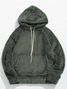 جيب الحقيبة الصلبة هوديي رقيق - الجيش الأخضر Xl