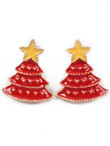 عيد الميلاد شجرة نجمة وأقراط - الحمم الحمراء