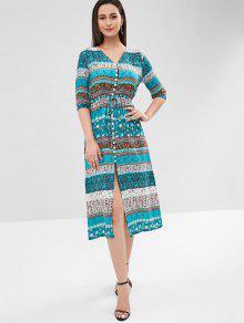 فستان بطبعات زهور - متعددة-a M