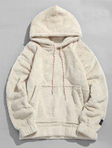 جيب الحقيبة الصلبة هوديي رقيق - الأبيض الدافئ Xl