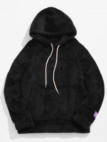 جيب الحقيبة الصلبة هوديي رقيق - أسود M