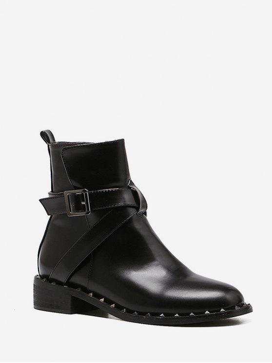 Kurze Stiefel mit Nieten - Schwarz EU 39