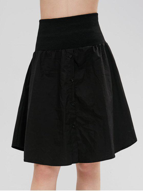 Knöpfen Sie eine Linie Shirt Rock - Schwarz M