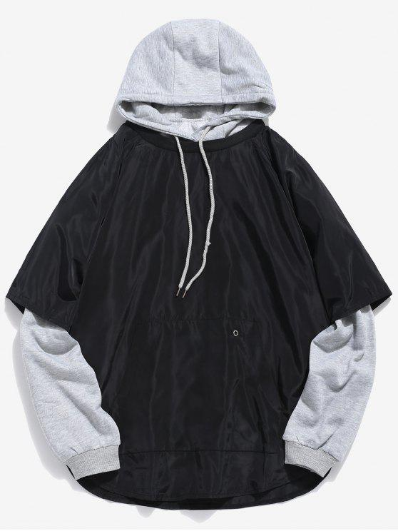 chic Streetwear Solid Two Piece Hoodies - GRAY CLOUD L