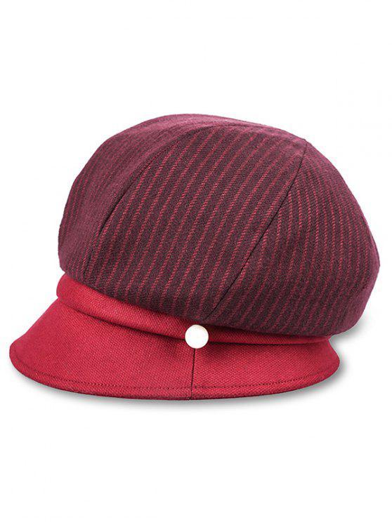 Sombrero Vintage de rayas verticales - Ladrillo Refractario
