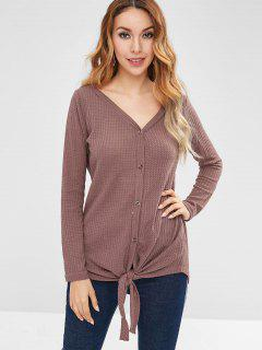 Tie Tunic Cardigan - Rosy Brown L