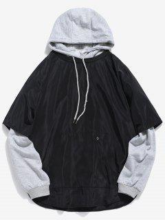 Sweat à Capuche En Couleur Unie Vêtement De Rue Deux Pièces - Nuage Gris M